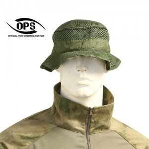 O.P.S REVERSIBLE BOONIE HAT IN ARMY GREEN